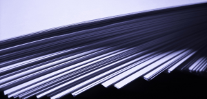 Press releases stacked documents