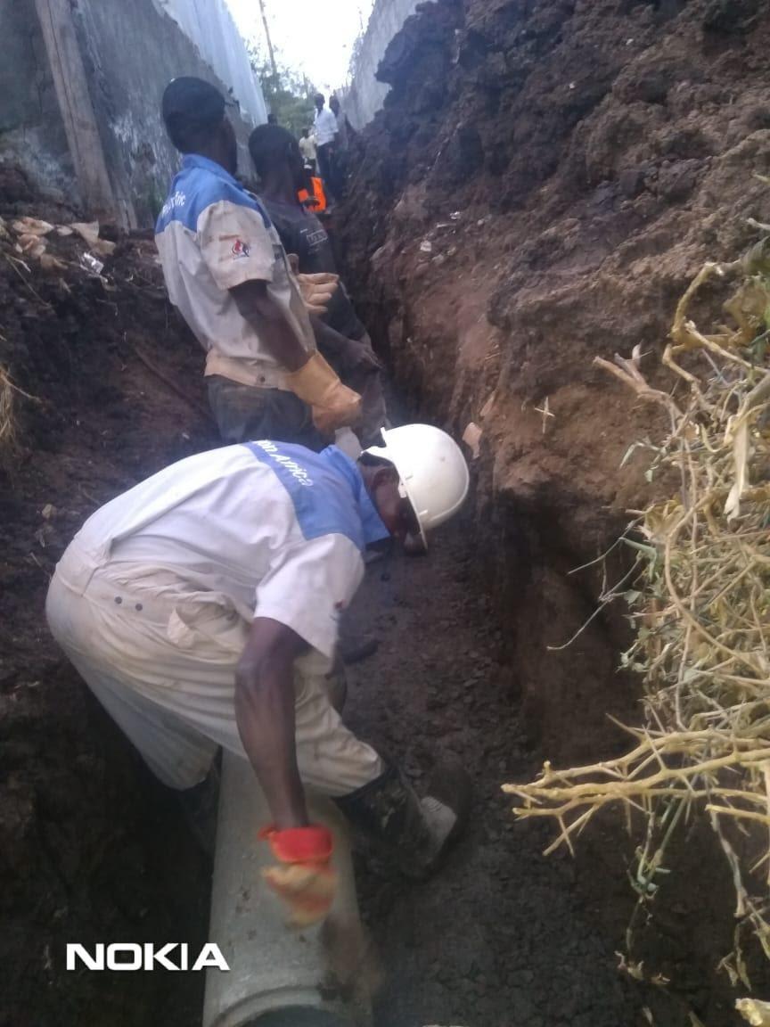 Riruta sewer extension works