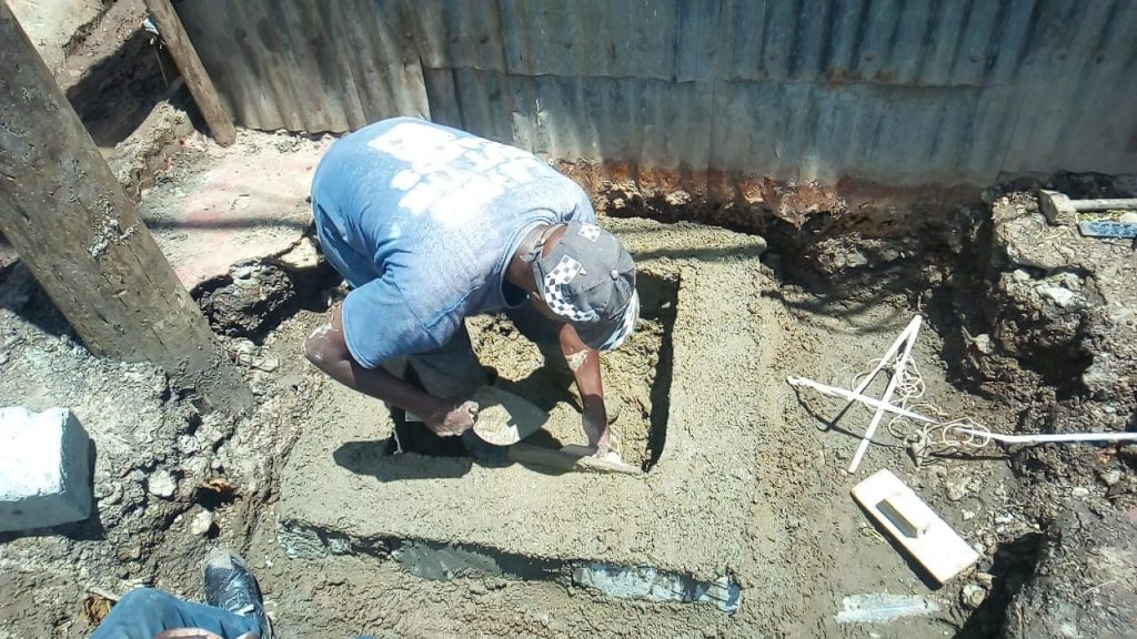 Nairobi Water simplified sewer pilot project in Mosquer Rd, Kwa Reuben