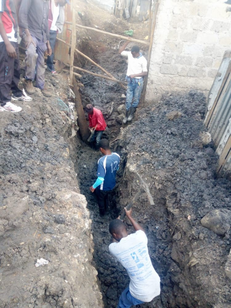 Nairobi water simplified sewer pilot project at Kwa Rueben